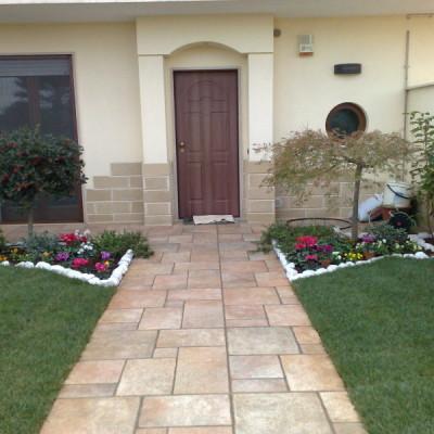 realizzazione completa giardino villa a schiera Camasta a Casamassima (1)