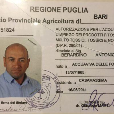 Autorizzazione acquisto fitosanitari
