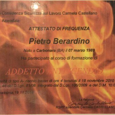 Certificazione addetti antincendio
