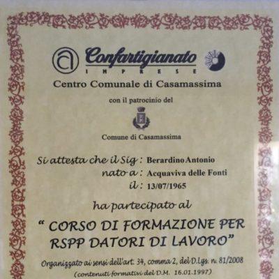 Certificazione prevenzione  eprotezione